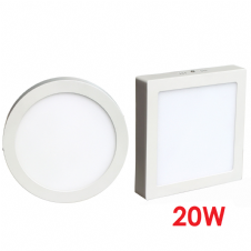 Surface Mounted LED Panels 20W Round or Square